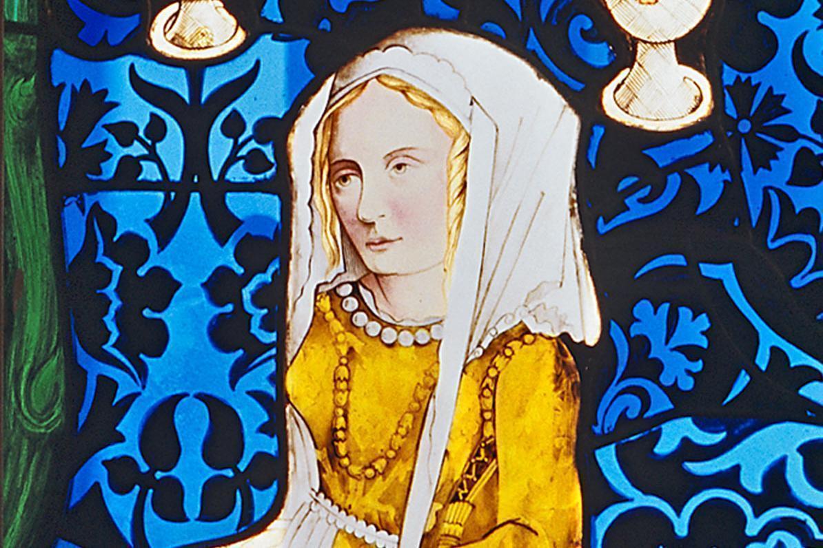 Barbara Gonzaga of Mantua, vestry window in the palace church of the old palace in Stuttgart. Image: Staatliche Schlösser und Gärten Baden-Württemberg, Arnim Weischer