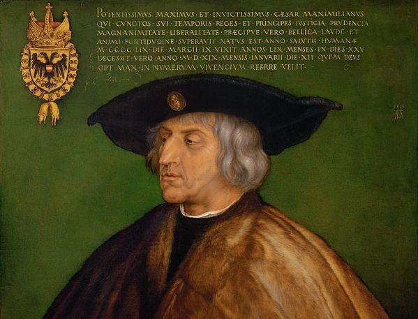 Kaiser Maximilian I., Gemälde von Albrecht Dürer 1519; Foto: Wikipedia, gemeinfrei