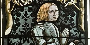 Portrait of Ludwig I, stained glass in the collegiate church in Tübingen.