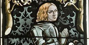 Porträt Ludwigs I., Glasmalerei in der Tübinger Stiftskirche.