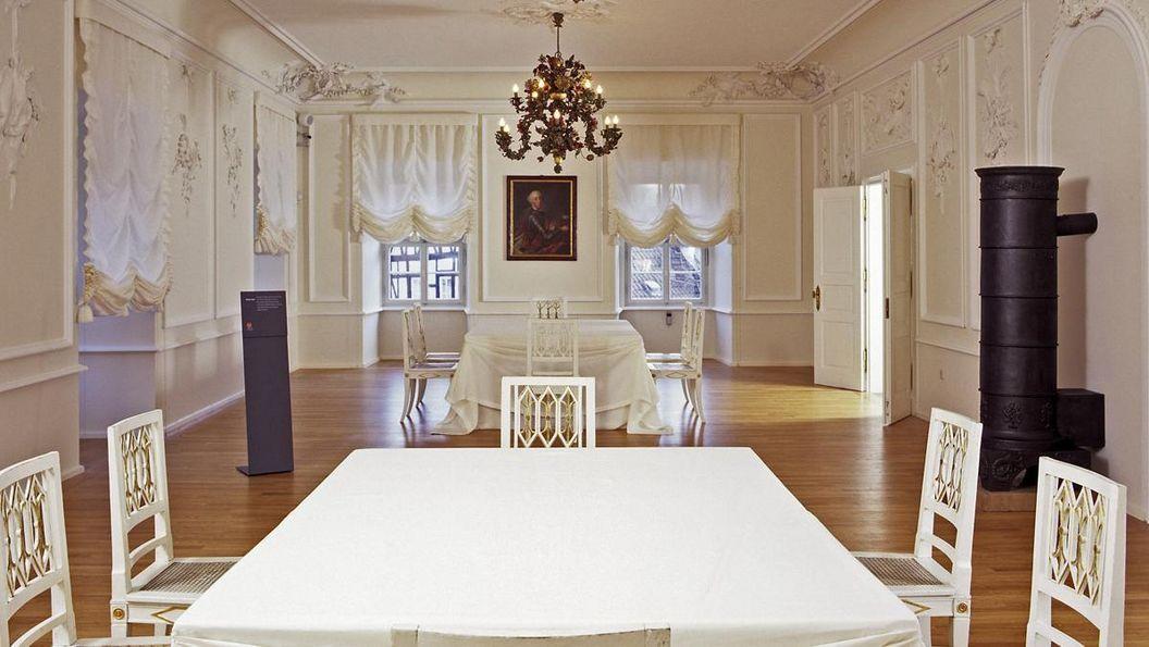 Blick in den Weißen Saal von Schloss Urach