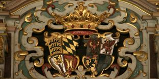 Urach Residential Palace, Coat of arms in the Golden Hall.