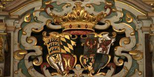 Residenzschloss Urach, Detail des Wappens im Goldenen Saal.
