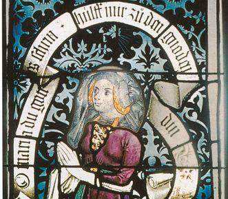 Henriette von Mömpelgard, Glasfenster im Chor der Stiftskirche Tübingen, 1477