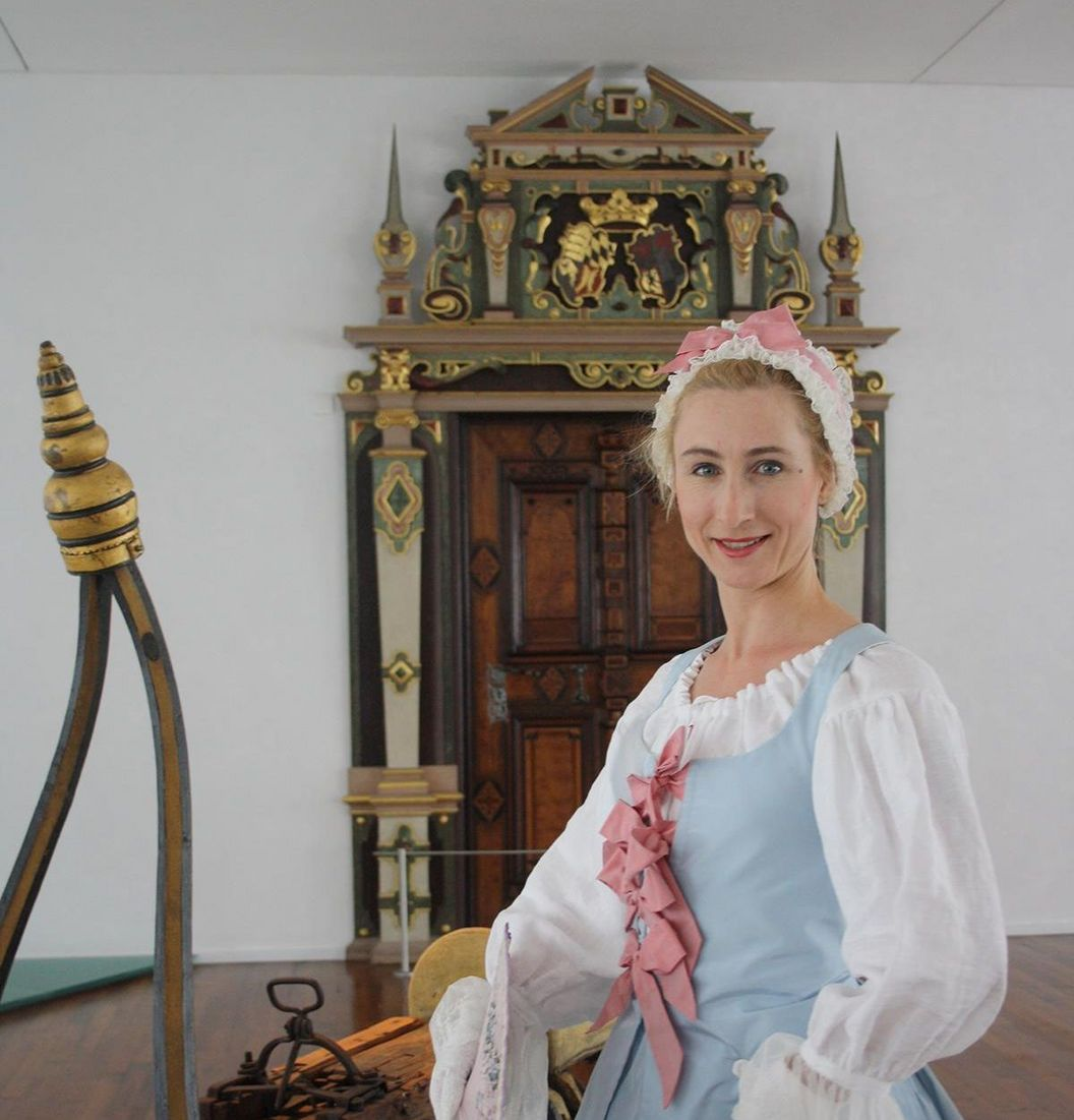 Urach Residential Palace, costumed woman