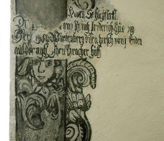 Uncovered mural in Urach Palace. Image: Staatliche Schlösser und Gärten Baden-Württemberg, Janna Almeida