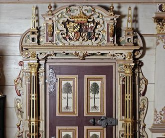 Portal in the Golden Hall, Urach Palace. Image: Landesmedienzentrum Baden-Württemberg, Sven Grenzemann