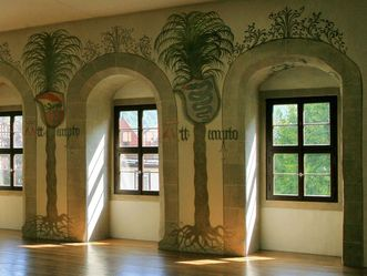Image: View of the mural in the Hall of Palms, Urach Palace