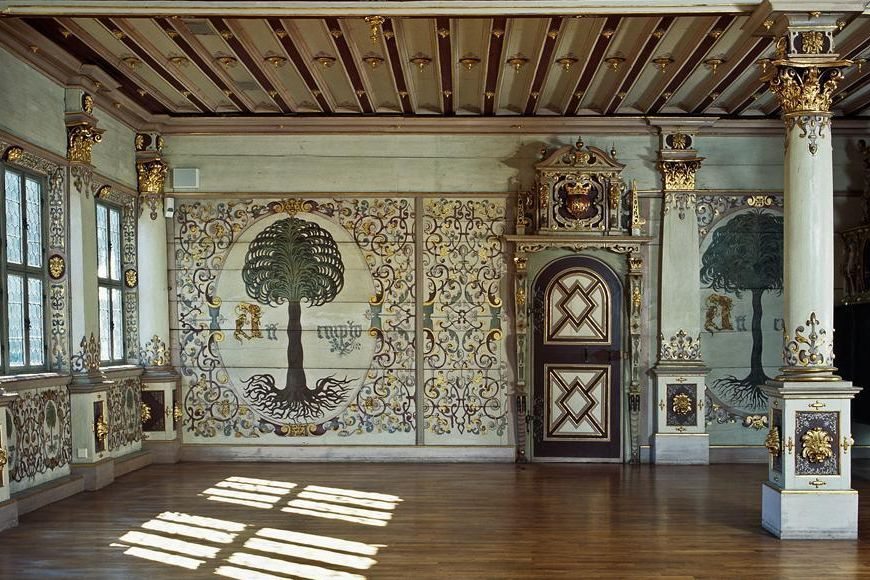 View of the Golden Hall, Urach Palace. Image: Staatliche Schlösser und Gärten Baden-Württemberg, Tom Philippi
