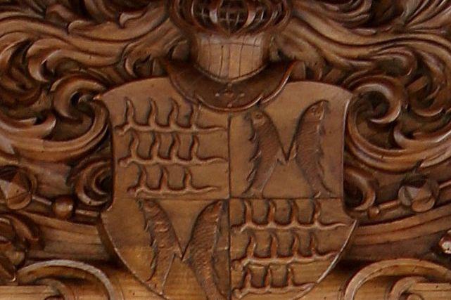 Detailbild des Wappens der Grafen von Württemberg-Mömpelgard in Schloss Urach