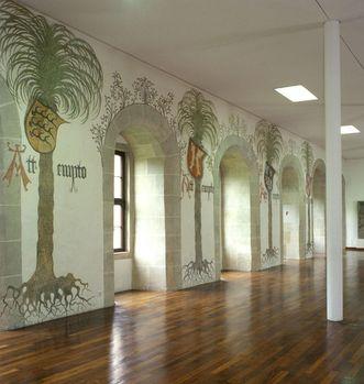 View of the Hall of Palms with painted row of windows. Image: Staatliche Schlösser und Gärten Baden-Württemberg, Steffen Hauswirth