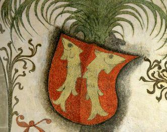 Detail of the coat of arms of the Counts of Mömpelgard. Image: Staatliche Schlösser und Gärten Baden-Württemberg, Janna Almeida