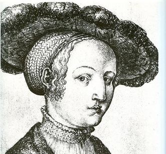 Portrait of Sabina von Bayern, charcoal drawing, circa 1530. Image: Wikipedia, in the public domain