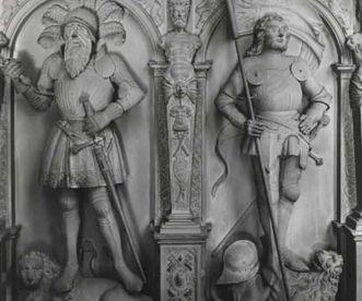 Detailbild der Ahnenreihe in der Stiftskirche in Stuttgart