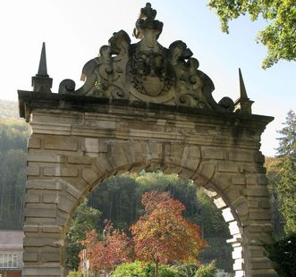 Das Portal von Schloss Urach